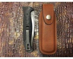 Чехол для складного ножа Финка Reptilian R6-brown