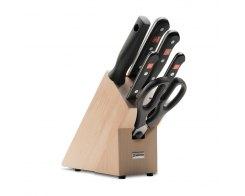 Набор ножей 4 шт+мусат на подставке Wuesthof 9867-2 Gourmet