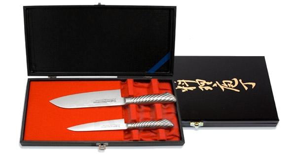 Набор из 2 ножей: Сантоку и универсальный Tojiro FD-132