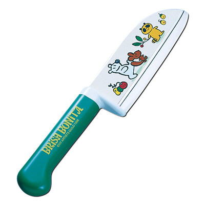 Детский кухонный нож Brisa Bonita Tojiro BB-4 (зелёный)
