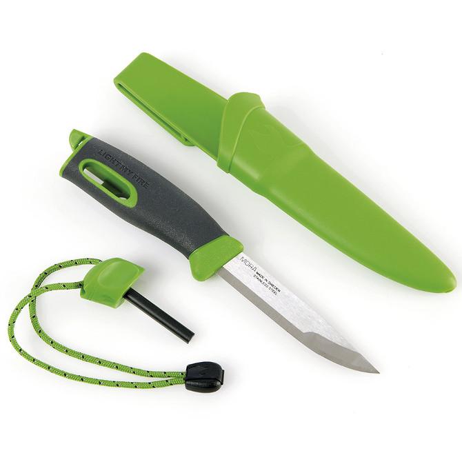 Нож с огнивом Mora Light My Fire Green
