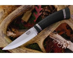 Нож туристический Bark River Scandi Black Canvas Micarta Black Paper Spacer