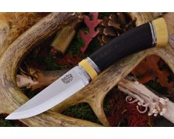 Нож туристический Bark River Scandi Black Canvas Micarta Ivory Spacer