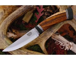 Нож туристический Bark River Scandi Desert Ironwood Black Paper Spacer