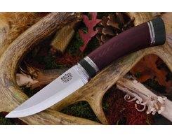 Нож туристический Bark River Scandi Maroon Linen Micarta Black Paper Spacer