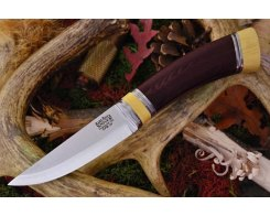 Нож туристический Bark River Scandi Maroon Linen Micarta Ivory Spacer