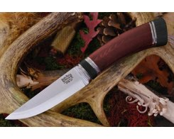 Нож туристический Bark River Scandi Red Linen Micarta Black Paper Spacer