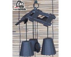 Фурин IWACHU 27148, Пагода и 3 колокольчика, цвет черный