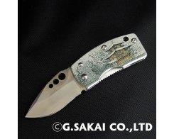 Складной нож с зажимом для денег G.Sakai Ukimon Snowed, 11604