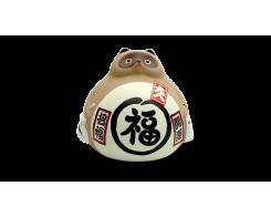 """Фигурка """"Манэки Енот"""" Hatamoto ME-01, 10см, коричневый, ручная работа"""