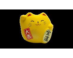 "Фигурка ""Манэки-Кот"" Hatamoto MK-04, 5см, ручная работа, желтый"