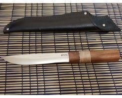 Якутский нож ручная ковка, Антарес Y65LL-SK, сапели+кап, 65Х13, 17 см