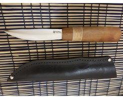 Якутский нож ручная ковка, Антарес Y65M-SK, сапели+кап, 65Х13, 12 см