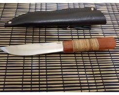 Якутский нож ручная ковка, Антарес Y95LL-PB, падук+береста, 95Х18, 15,5 см