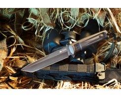 Тактический нож Kizlyar Supreme 00065 Aggressor, D2 Black Titanium