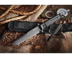 Нож Kizlyar Supreme 001632 Trident D2 Black Titanium, 28,3 см.