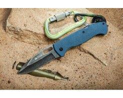 Складной нож Kizlyar Supreme 001716 Ute 440C Stonewash Gray G10, 20,5 см.