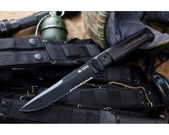 Тактический нож Kizlyar Supreme 100611 Alpha, S D2 Black Titanium