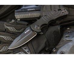 Складной нож Kizlyar Supreme 5416 Bloke Z D2 Black Tinanium, 22 см.
