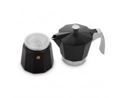 Кофеварка гейзерная на 6 чашек для всех типов плит IBILI Evva 623106, цвет черный