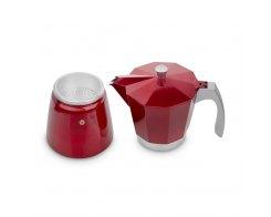 Кофеварка гейзерная на 6 чашек для всех типов плит IBILI Evva 623206, цвет красный