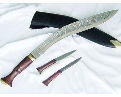 Кукри нож Nepal Kukri House 18'' Long wooden Dragon (engraving)