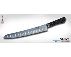 Кухонный нож MAC Professional MCK-105-D Slicer с проточкой, 270 мм