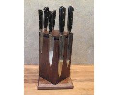 Настольный поворотный магнитный держатель для ножей MDG O-1 (американский орех)