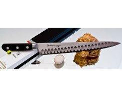 Универсальный узкий нож Misono Molibden Steel с проточкой Sujihiki 240 мм.