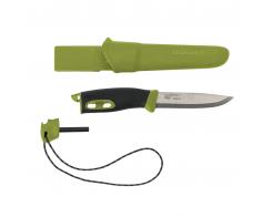 Нож с огнивом Morakniv Companion Spark Green, нержавеющая сталь, 13570