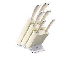Набор ножей 6 предметов в подставке Wuesthof Ikon Cream White 9877 WUS