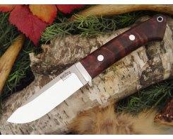 Нож туристический Bark River Drop Point Hunter Bastone Walnut