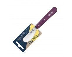 Нож для масла Opinel №117, нержавеющая сталь, сливовый, 70 мм.