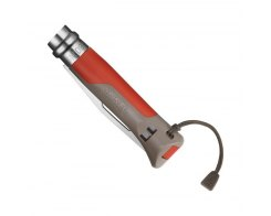 Складной нож Opinel №8 Outdoor Earth, нержавеющая сталь, красный, 85 мм.