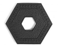 Чугунная подставка под чайник IWACHU 17005, 9,5х11 см. шестиугольник, цвет черный
