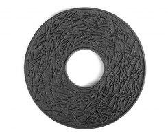 Чугунная подставка под чайник IWACHU 17034, 14,5 см. круг, сосновая игла, цвет черный