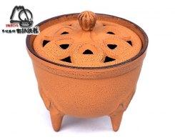 Чугунная аромакурительница IWACHU 29021, оранжевая