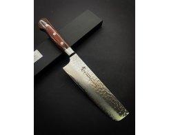 Кухонный топорик для овощей Sakai Takayuki Damascus Hammered 07393 Nakiri 160 мм.