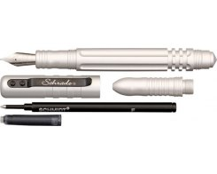 Тактическая ручка Schrade Fountain and Roller Ball Silver