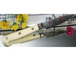 Овощной нож Hiro-Shiki, SKC-1P Paring Damascus Premium, 8 см.