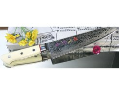 Поварской нож Hiro-Shiki SKC-4 Gyuto Damascus Premium