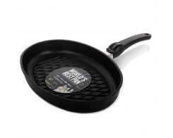 Сковорода гриль овальная AMT I-3524BBQ, 35х24 см, h 5 см, для индукционных плит