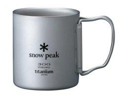 Кружка Snow Peak MG-052FHR, 300 мл (двойная стенка), титан