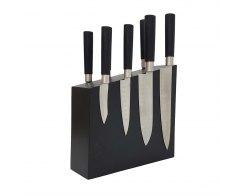 Магнитная подставка для ножей из дерева Woodinhome KS004SOBL 26х24х7,5 см.