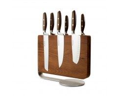 Набор кухонных ножей 6 штук на деревянной, магнитной подставке Wuesthof Epicure 9884-2