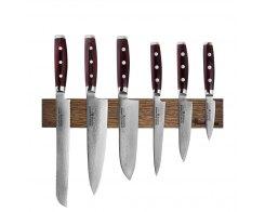 Набор из 6-ти кухонных ножей на магнитном держателе из дуба Yaxell GOU 161 YA/SGOU-KS001SOB