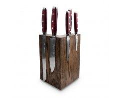 Набор из 6-ти кухонных ножей на подставке из дуба Yaxell GOU 161 YA/SGOU-KS003SOB