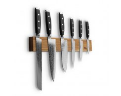 Набор из 6-ти кухонных ножей на магнитном держателе из дуба Yaxell GOU YA/GOU-KS001SOB