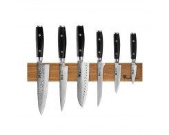Набор из 6-ти кухонных ножей на магнитном держателе из дуба Yaxell RAN YA/RAN-KS001SON
