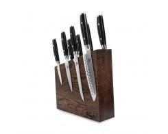 Набор из 8-ми кухонных ножей на подставке из дуба Yaxell RAN YA/RAN-KS004SOB